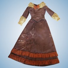 Antique Lady Doll Fashion Dress for China, Papier-mache, Fashion