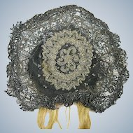 Antique Victorian Beaded Hat for Doll or Women's Bun Hat