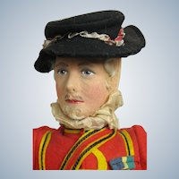 "Wonderful 14"" Liberty of London Felt & Cloth Beefeater Guard at Tower"