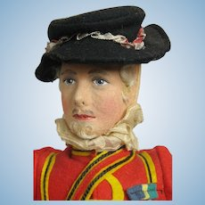 """Wonderful 14"""" Liberty of London Felt & Cloth Beefeater Guard at Tower"""