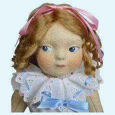 Sweet Haut Melton Artist Felt Doll Ritzy ~ Based on Rose O'Neill Kewpie Illustrations
