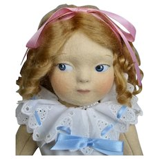 Haut Melton Artist Felt Doll Ritzy ~ Based on Rose O'Neill Kewpie Illustrations
