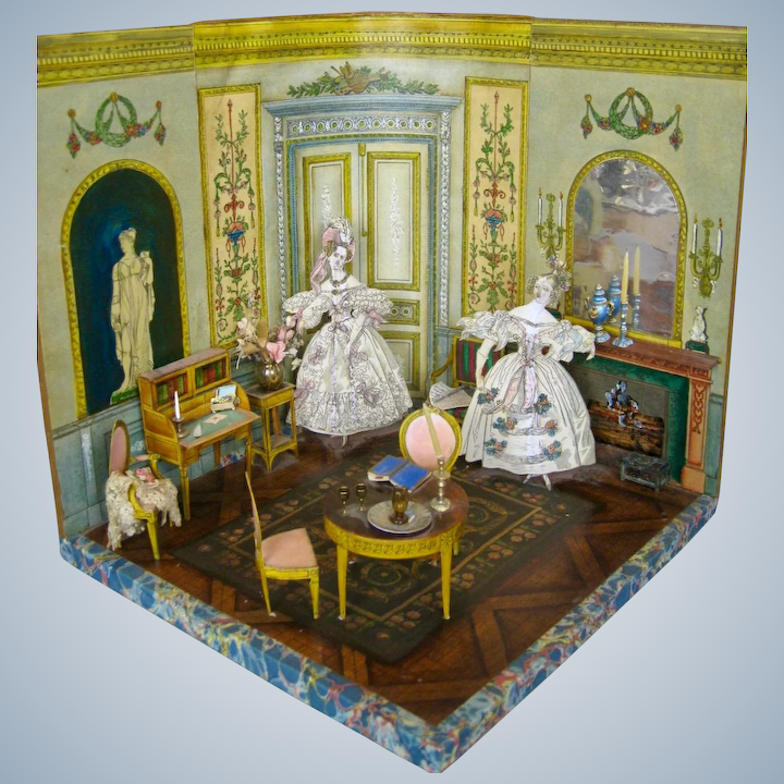 Groovy Miniature Paper Room Box With Paper Cut Out Furniture Women Interior Design Ideas Truasarkarijobsexamcom