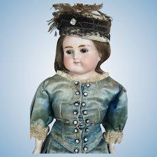 Antique German Closed Mouth ABG Bisque Head Fashion Doll