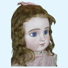 Gorgeous Antique French Steiner Series C Bebe Doll w Silk Parasol