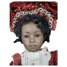 Elusive German Bisque Simon Halbig Character Doll 1368 w Cafe-Au-Lait Complexion