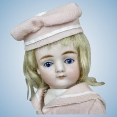 "8"" All Bisque German Kestner Pouty Closed Mouth Doll w Swivel Neck"