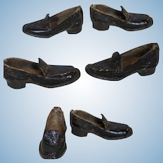 Antique Male French Fashion Doll Leather Shoes