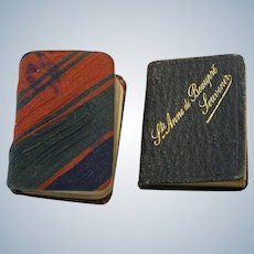 Two Antique Miniature Books for French Fashion or Mignonette Doll ~ Prayer Book