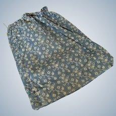 Antique Primitive Indigo Cobalt Blue Fabric Bag Pouch