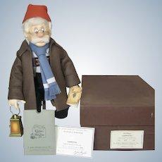 R. John Wright Disney Geppetto Searches for Pinocchio Doll LE 12/250 Box COA