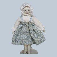 OOAK Miniature Oil Painted Cloth Doll