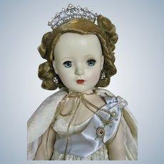 Madame Alexander Beaux Arts Queen Elizabeth 1953 with Red Velvet Cape