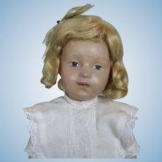 "14"" Antique Schoenhut Incised Mark Pouty Wood Doll"