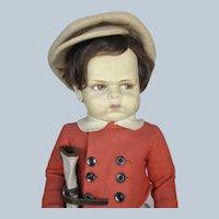 So Rare 1929 Lenci Grugnetto Grumpy 1500 Golfer Boy Doll