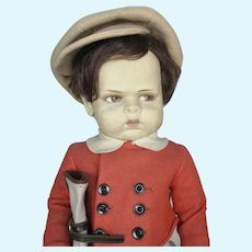 So Rare 1929 Lenci Grugnetto Grumpy 1500 Golfer Boy Doll