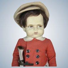 Rare 1929 Lenci Grugnetto Grumpy 1500 Golfer Boy Doll