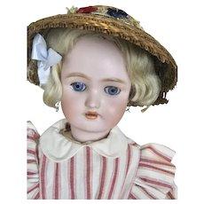 "Antique German 17"" Simon Halbig Handwerck Bisque Head Doll"