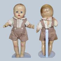 """Adorable 12"""" Composition Boy WOL-CAL Giltoy Company Canada"""