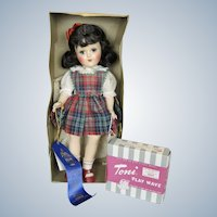 High Color Brunette Ideal Toni Doll MIB UFDC First Place Winner
