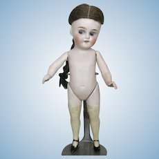 """Rare 5 1/2"""" All Bisque Doll with Side Glancing Eyes"""