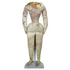 Early Antique Cloth Body with Leather Lower Arms, Stitched Separate Fingers