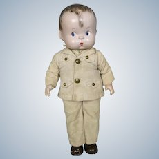 1940s Effanbee Skippy Soldier Composition Doll