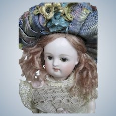 """Antique  7"""" All Bisque Kestner Swivel Head Pouty Doll"""