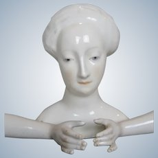 Rare Exquisite Porcelain Nymphenburg Lady Doll Head and Arms Hands