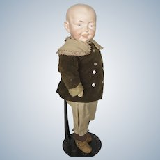 Antique German Bisque Head Character Boy Doll