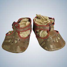 Adorable Antique Toddler Doll Shoes or Kathe Kruse Shoes
