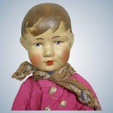 "German Bing 10"" Art Cloth Doll"