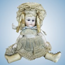 "Most Adorable 5"" German Swivel Neck All Bisque Doll"
