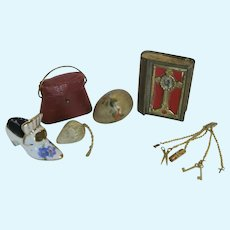 Antique and Vintage Miniatures for French Fashion or Mignonette Doll
