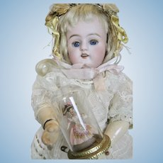 Rare Vintage Elaine Cannon Miniature Lady Doll In Glass Dome