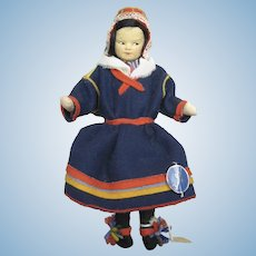 Tagged Ronnaug Petterssen Norwegian Felt Doll