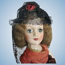 "Rare 14"" Composition Rita Hayworth as Carmen Uneeda Doll"
