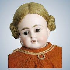 "Serene Antique 19"" German ABG Turned Bisque Head Doll"
