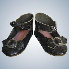 Antique French Leather Doll Shoes ~ Mark M.B. Paris