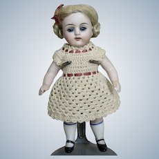 """Sweet Antique German 6"""" All Bisque Doll"""