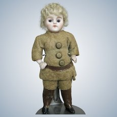 "All Original 3 3/4"" German All Bisque Boy Doll House Doll"