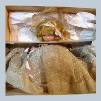 NASB Jointed Leg Pudgy #87 Bisque Bridesmaid Wrist Tag & Original Box