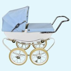 Rare French Doll Buggy Pram Carriage With Hooded Cover