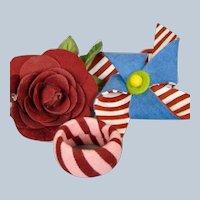 R John Wright Dolls Felt Napkin Holders Convention Souvenirs Rose Pinwheel