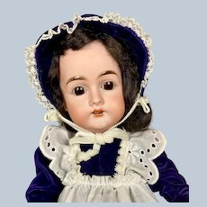 "Sweet 17"" Antique German Karl Hartmann Bisque Head Doll"