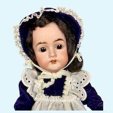 """Sweet 17"""" Antique German Karl Hartmann Bisque Head Doll"""