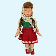 Gorgeous 1950s Kathe Kruse T46 Turtle Mark Celluloid Doll A/O