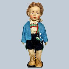 """Gebruder Bing 10"""" Art Cloth Doll Germany"""