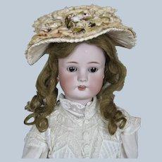 "Antique 25"" German Simon Halbig Borgfeldt Bisque Head Doll"