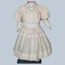 Vintage Pink Embossed Doll Dress for your Antique Doll